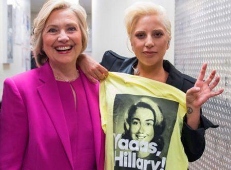 レディー・ガガ Lady Gaga ヒラリー・クリントン 大統領候補