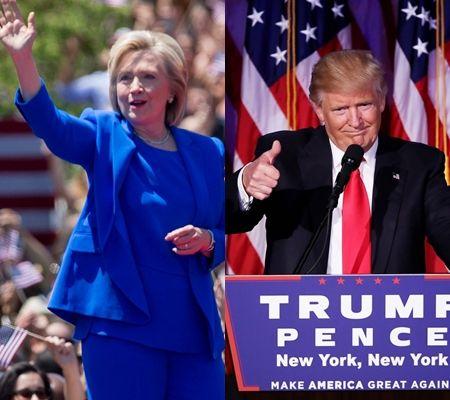 ヒラリー・クリントン Hillary Clinton 民主党 ドナルド・トランプ Donald Trump 共和党 テーマカラー