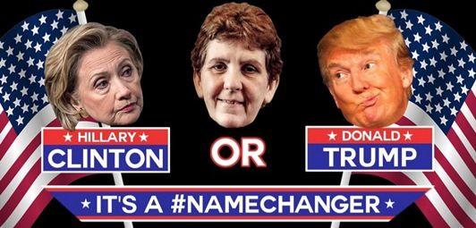 ヒラリー・クリントン ドナルド・トランプ Hillary Clinton Donald Trump 改名 寄付集め
