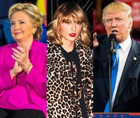 テイラー・スウィフト アメリカ大統領選 投票 ヒラリー・クリントン ドナルド・トランプ Taylor Swift