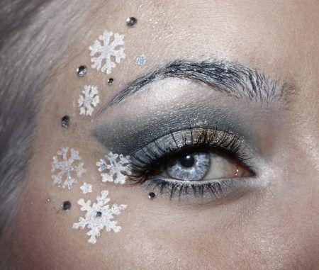 クリスマス・アイメイク 雪の結晶