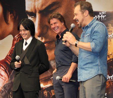 トム・クルーズ Tom Cruise  映画『ジャック・リーチャー NEVER GO BACK』 来日 記者会見 映画『ラストサムライ』 池松壮亮