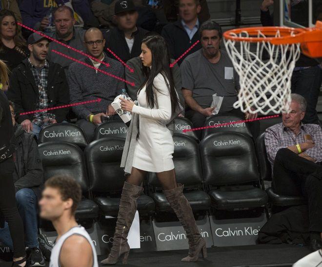 ヴィクトリアズ・シークレット・エンジェル アドリアナ・リマ NBA試合観戦