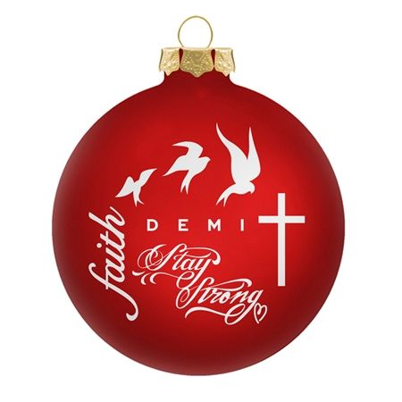 デミ・ロヴァート Demi Lovert クリスマスグッズ グッズ オフィシャルサイト 公式サイト ツリー用オーナメント デミのタトゥー