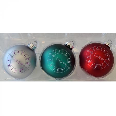 テイラー・スウィフト Taylor Swift クリスマスグッズ グッズ 公式サイト オフィシャルサイト 発売 ツリー用オーナメント 3色セット 1989