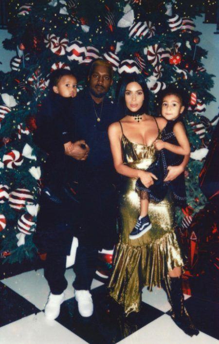 カーダシアン クリスマス パーティ キム・カーダシアン Kim Kardashian カニエ・ウェスト Kanye West ノース セイント 子供