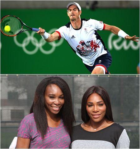 男子テニス選手アンディ・マレー 女子テニス選手セリーナ&ヴィーナス・ウィリアムズ