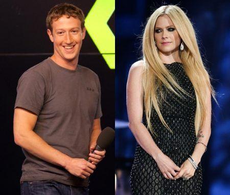 アヴリル・ラヴィーン マーク・ザッカーバーグ Avril Lavigne Mark Zuckerberg