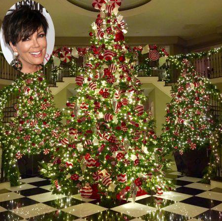 クリス・ジェナー Kris Jenner クリスマスツリー 2016