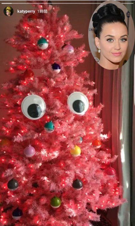 ケイティ・ペリー Katy Perry クリスマスツリー 2016