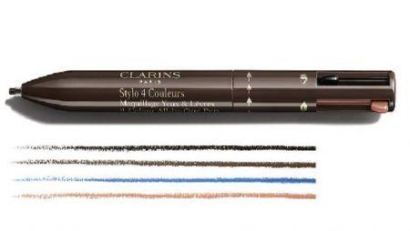クラランス CLARINS アイペンシル 4カラー・オール・イン・ワン・ペン・アイズ・アンド・リップス(4-Colour All-in-One Pen Eyes & Lips)