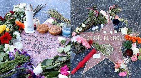 キャリー・フィッシャー デビー・レイノルズ Carrie Fisher Debbie Reynolds ハリウッドの殿堂 追悼 ファン