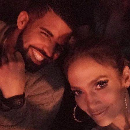 ドレイク Drake ジェニファー・ロペス Jennifer Lopez 2ショット 写真