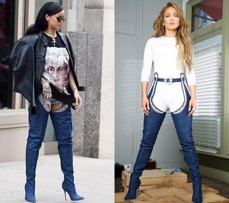 リアーナ Rihanna ジェニファー・ロペス Jennifer Lopez Giuzeppe Zanotti ジュゼッペ・ザノッティ ブーツ MV