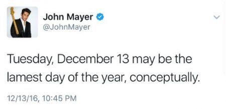 ジョン・メイヤー John Mayer テイラー・スウィフト ツイート 誕生日