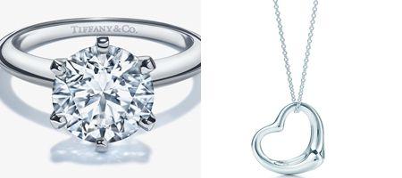 Tiffany 婚約指輪 エンゲージメントリング オープンハートネックレス