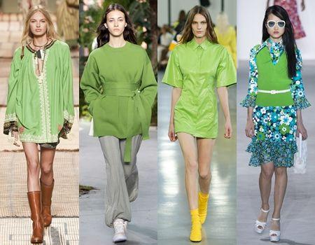 2017年の色 パントン Pantone グリーナリー Greenery 2017 春夏コレクションランウェイ Etro  Lacoste Emillio Pucci Michael Kors