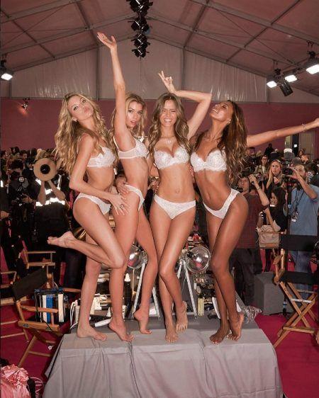 ヴィクトリアズシークレット Victoria's Secret ファッションショー バックステージ マーサ・ハント ステラ・マックスウェル ジョセフィン・スクライヴァ― ジャスミン・トゥークス