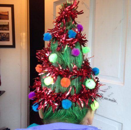 クリスマスツリーヘア