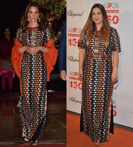 キャサリン妃 The Duchess of Cambridge  ケイト・ミドルトン Kate Middleton  ドリュー・バリモア  Drew Barrymore ファッション 被ったドレス ドレス 被り 同じ