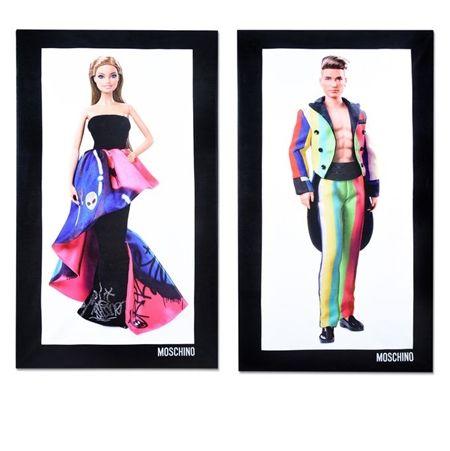 モスキーノ Moschino バービー人形 Barbie デザイナー ジェレミー・スコット Jeremy Scott ステラ・マックスウェル Stella Maxwell バービーコラボ バービー Barbie ケン Ken MTV VMAの衣装 人形 日本でも買える バスタオル