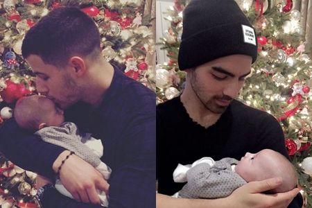 ニック・ジョナス Nick Jonas  ジョー・ジョナス Joe Jonas  子供 クリスマス 初めて 2016年 ベイビー セレブキッズ 叔父 メロメロ