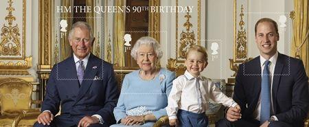 エリザベス女王  Queen Elizabeth イギリス 2016年 総まとめ 総集編 誕生日 90歳 パレード デコバルーン 国民がお祝い 記念切手 4世代の君主