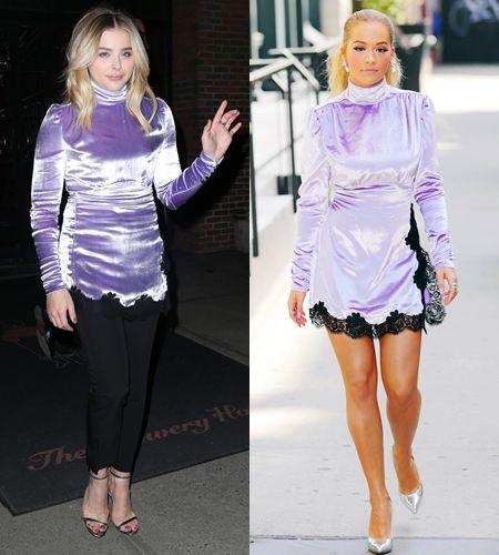 リタ・オラ Rita Ora クロエ・モレッツ   Chloe Moretz ファッション 被ったドレス ドレス 被り 同じ