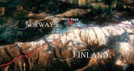 ノルウェーがフィンランド独立100周年に山を譲渡 Battle For Birthday Mountain 国境図