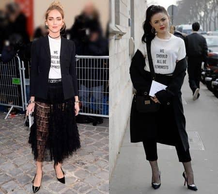 ディオールのフェミニストTシャツ Dior We Should All Be Feminists T-Shirt  クリスティーナ・バザン キアラ・フェラーニ