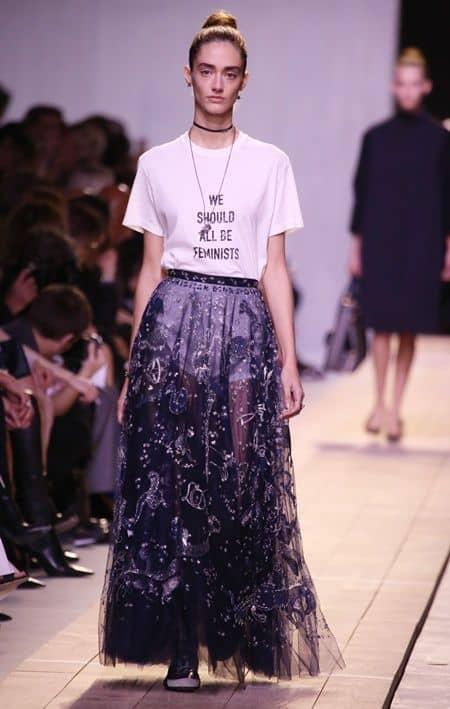 ディオールのフェミニストTシャツ Dior We Should All Be Feminists T-Shirt