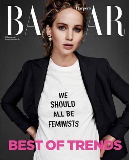 ディオールのフェミニストTシャツ Dior We Should All Be Feminists T-Shirt  Jennifer Lawrence ジェニファー・ローレンス