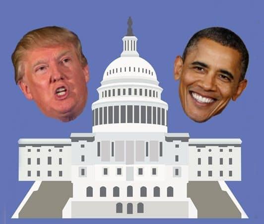 トランプ氏 オバマ氏 ホワイトハウス 大統領就任式