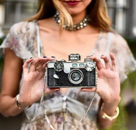 Judith Leiber ジュディス·リーバー クラッチバッグ バッグ 可愛い セレブ愛用 海外 レッドカーペット おすすめ カメラ