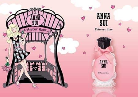 アナスイ Anna Sui 香水 フレグランス 限定発売 L'Amour Rose~ラムール ローズ  パリ ロマンティック パッケージ 可愛い ピンク
