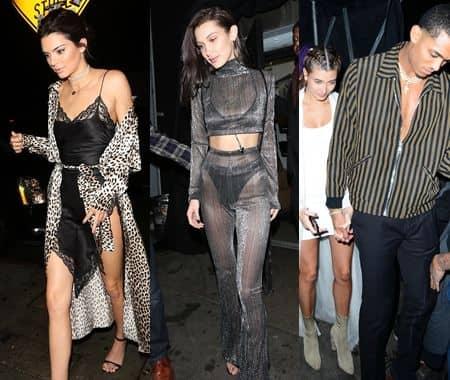 ケンダル・ジェナー Kendall Jenner ベラ・ハディッド Bella Hadid  ヘイリー・ボールドウィン Hailey Baldwin ジョーダン・クラークソン Jordan Clarkson 2017 年末年始 カウントダウン パーティ クラブ