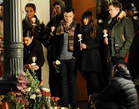 グリー コリー・モンティス 追悼 Glee Cory Monteith Candlelight Vigil