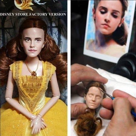 エマ・ワトソン ベル人形 変身 美女と野獣 Emma Watson 過程 リペイント