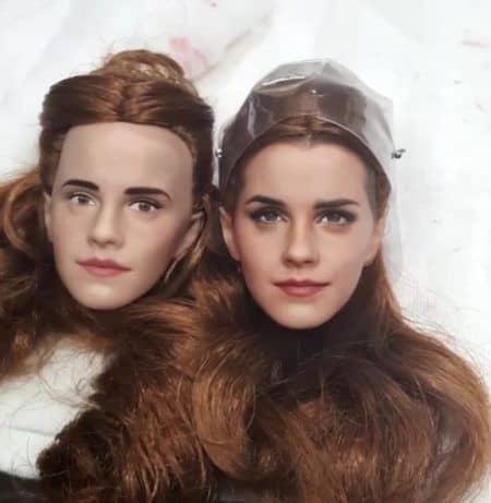 エマ・ワトソン ベル人形 変身 美女と野獣 Emma Watson ビフォー アフター