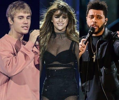 ジャスティン・ビーバー セレーナ・ゴメス ザ・ウィークエンド  Justin Bieber Selena Gomez The Weeknd