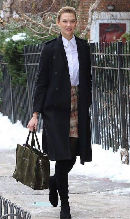 カーリー・クロス Karlie Kloss 冬 ファッション コーデ