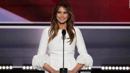 メラニア・トランプ Melania Trump ドナルド・トランプ Donald Trump 応援演説