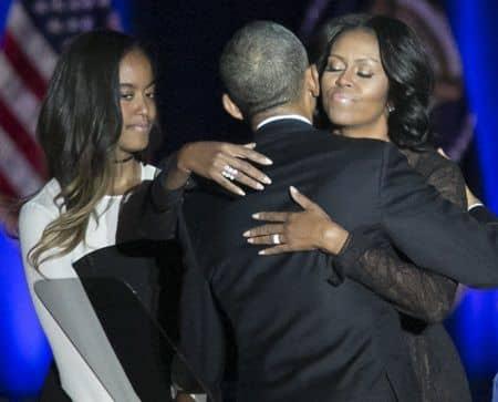バラク・オバマ大統領 退任演説 ミシェル夫人 マリア Barack Obama Farewell  America President