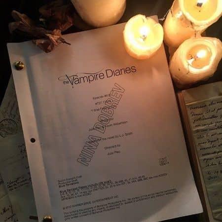 ニーナ・ドブレフ ヴァンパイア・ダイアリーズ 復帰 台本 報告 Nina Dobrev The Vampire Diaries Return Announcement Script Instagram