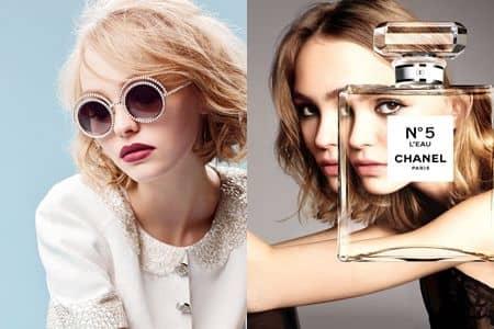 リリー・ローズ・デップ Lily Rose Depp シャネル CHANEL 広告 No.5 アイウェア