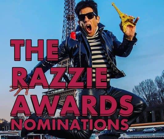 ラジー賞 ゴールデン・ラズベリー賞 ズーランダー No.2 ノミネーション 2017  Razzie Golden Raspberry Awards Zoolander2