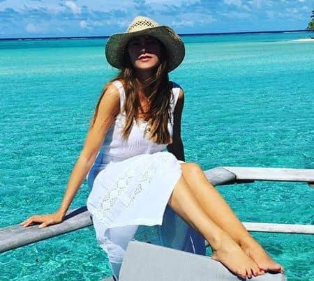 ソフィア・ヴェルガラ 2017年ポリネシア・タハア島旅行