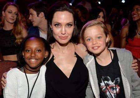 ザハラ シャイロ Zahara Jolie Pitt Shiloh Jolie Pitt アンジェリーナ・ジョリー Angelina Jolie  キッズチョイス 2015