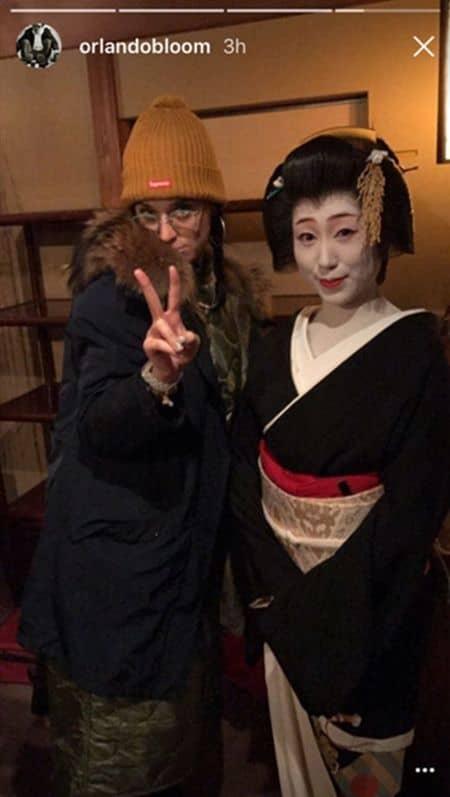 ケイティ・ペリー Katy Perry オーランド・ブルーム  Orlando Bloom 日本 来日 観光 京都 芸者 舞妓 遊び 2ショット