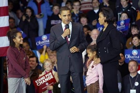 オバマ・ファミリー Obama Family ホワイハウス アメリカ大統領 人気 ミシェル・オバマ マリア・オバマ ナターシャ・オバマ バラク・オバマ